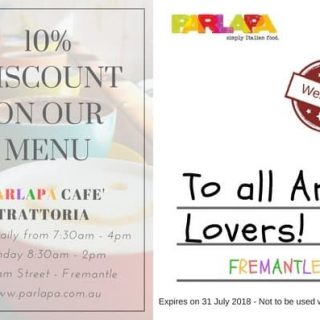 Parlapa Cafe 10% Discount